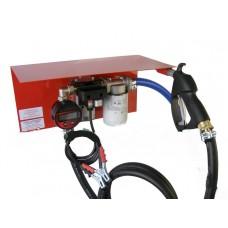 Мини АЗС 12 Вольт 35 л/мин с электронным или механическим счетчиком ( насос – Италия, счетчик – Германия) для дизельного топлива