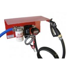 Мини АЗС 24В 50л/мин с электронным счетчиком для перекачки дизельного топлива ( насос – Италия, счетчик – Германия )