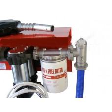 Мини АЗС 12 Вольт 85 л/мин с электронным счетчиком для перекачки дизельного топлива PIUSI Италия