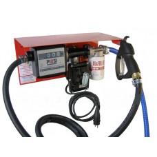 Мини Заправка 12В 50л/мин для перекачки бензина с насосом ЕХ50 12V 50 l/min и механическим счетчиком PIUSI Италия