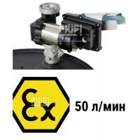 Насос для перекачки бензина Kit Drum EX50 230V AC ATEX ( с креплением под бочку ) 220В 50л/мин F0037402A PIUSI Италия