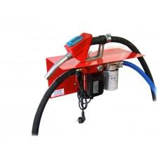 МиниАЗС 220 Вольт 60 л/мин с вмонтированным счетчиком на пистолете для перекачки дизельного топлива с насосом РО2