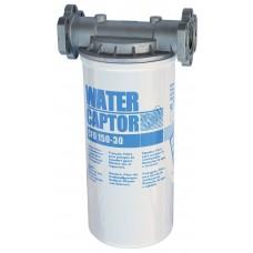 Фильтр сепаратор воды CFD 150-30 ( до 150л/мин ), Water Captor F00611020 F00611A10 ( водоотделитель топлива ) PIUSI Италия