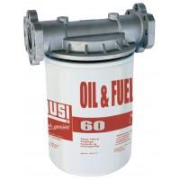 Фильтр тонкой очистки CF60 для дизтоплива, бензина, масел, биодизеля – 10мкм ( до 60 л/мин ) PIUSI Италия