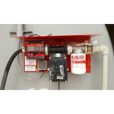 Мини АЗС 220В 50л/мин для перекачки бензина с насосом ЕХ50 PIUSI (Италия) и электронным счетчиком MGE-110