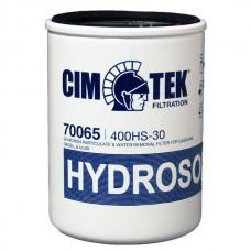Фильтр сепаратор воды СІМТЕК 400 HS-30 ( 70065) для дизельного топлива, бензина – 30мкм ( до 80 л/мин )