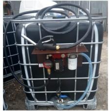 Міні АЗС на базі єврокуба 220В 30л / хв (насос - Польща, механічний лічильник - Італія, електро. Лічильник - Німеччина) для дизельного палива